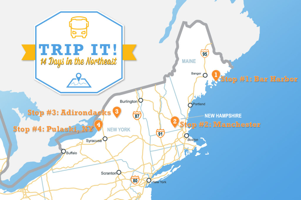Trip It The Ultimate Roadmap For Your Northeastern Adventure - Road map northeast us
